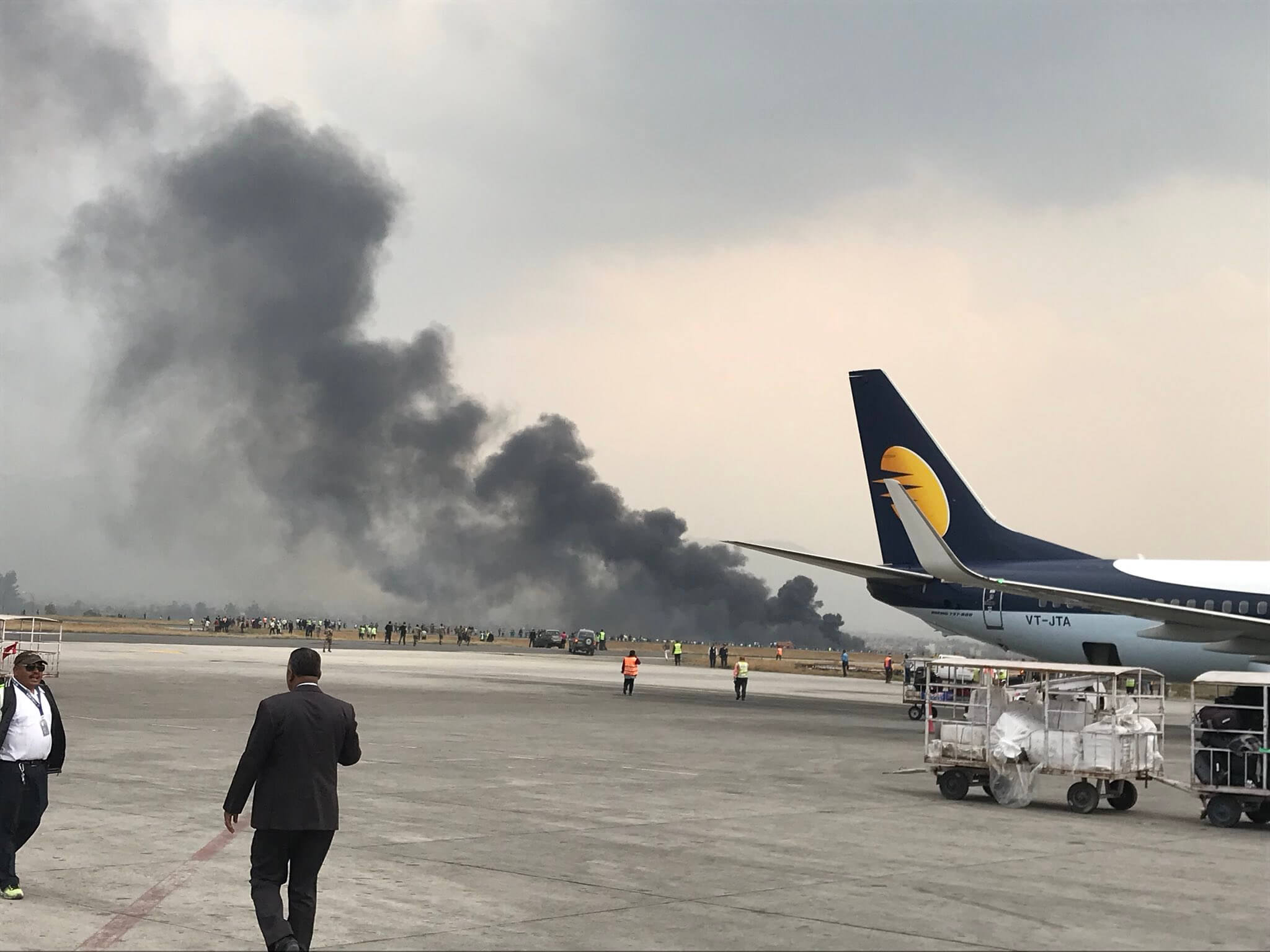 US-Bangla plane crashes at TIA