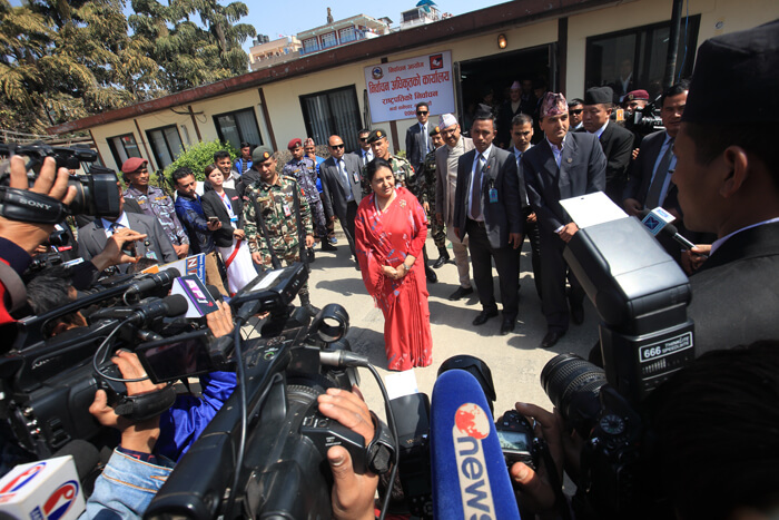Nepal President Bidya Devi Bhandari re-elected to 2nd term of office
