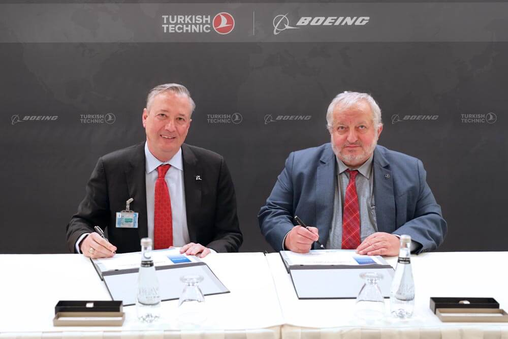 Boeing and Turkish Technic share agreement