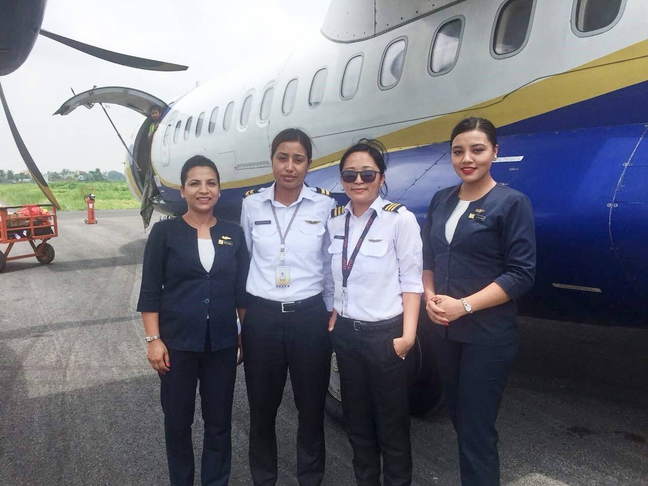 All female flight crew
