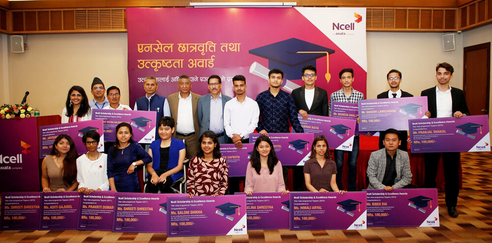Ncell confers scholarships and awards to students