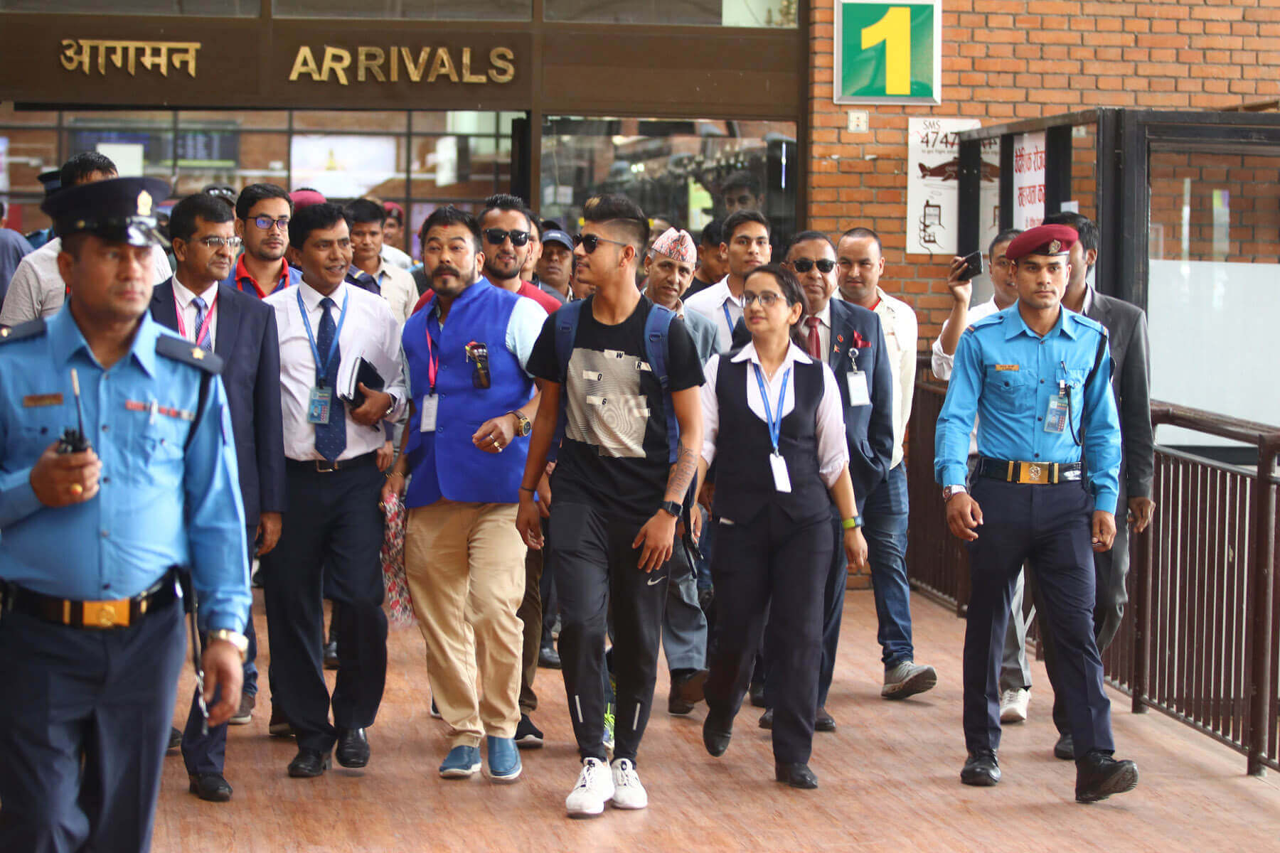 Sandeep Lamichanne returns home
