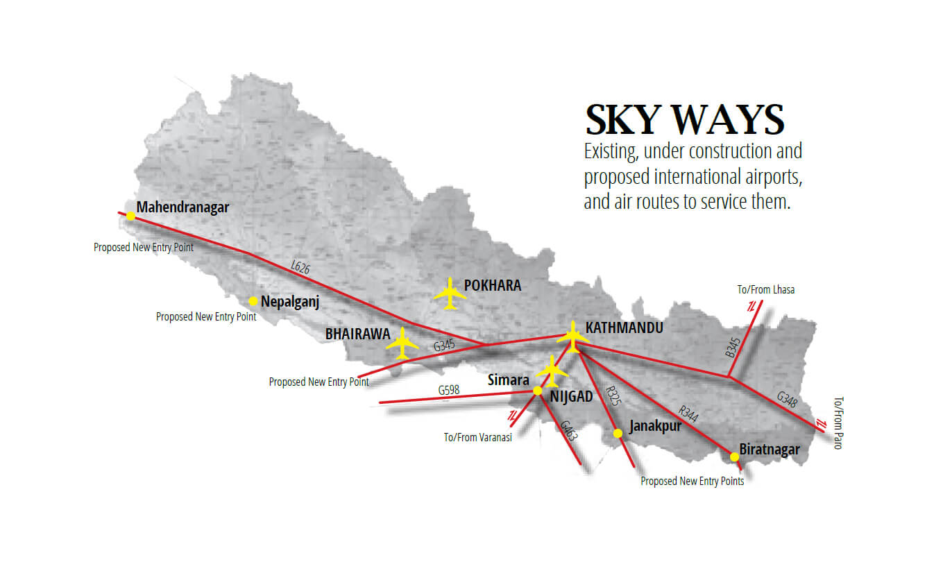 nepal airport map images