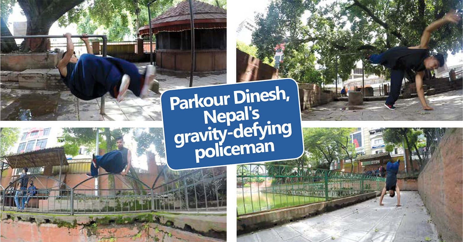 Parkour Dinesh, Nepal's gravity-defying policeman