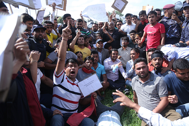 Protest in Maitighar
