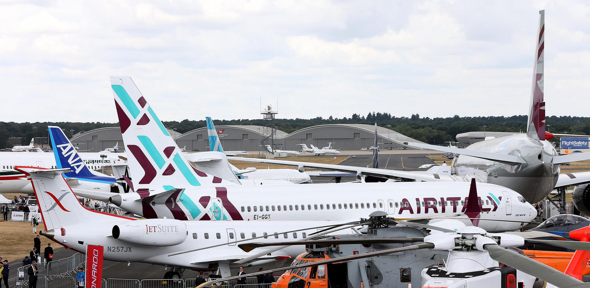 Air Italy's new Boeing showcased at Farnborough