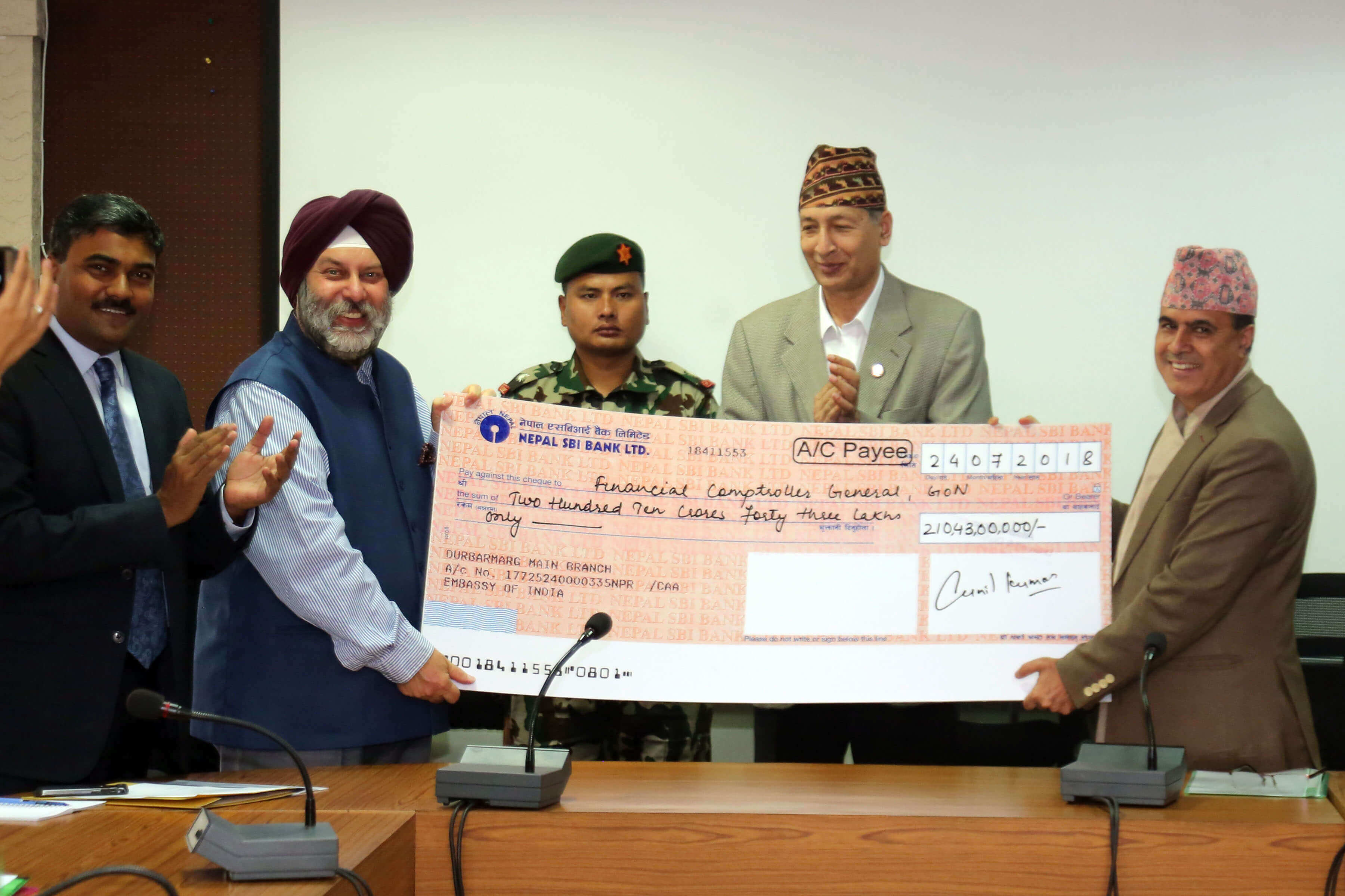 India provides earthquake reconstruction aid