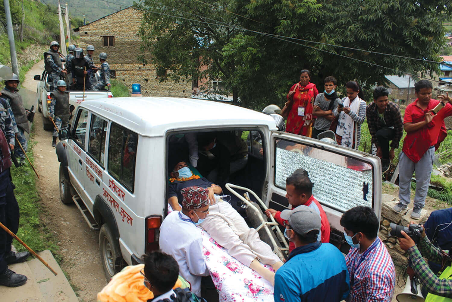 Govinda KC being brought to Kathmandu