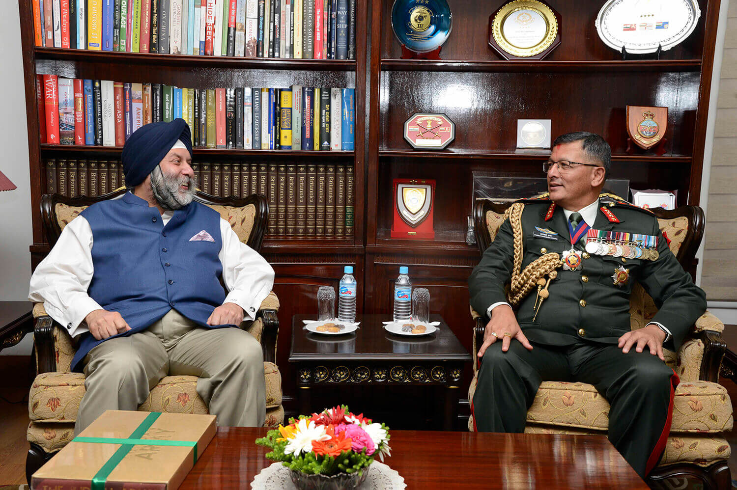 New Chief of Army with Indian Ambassador