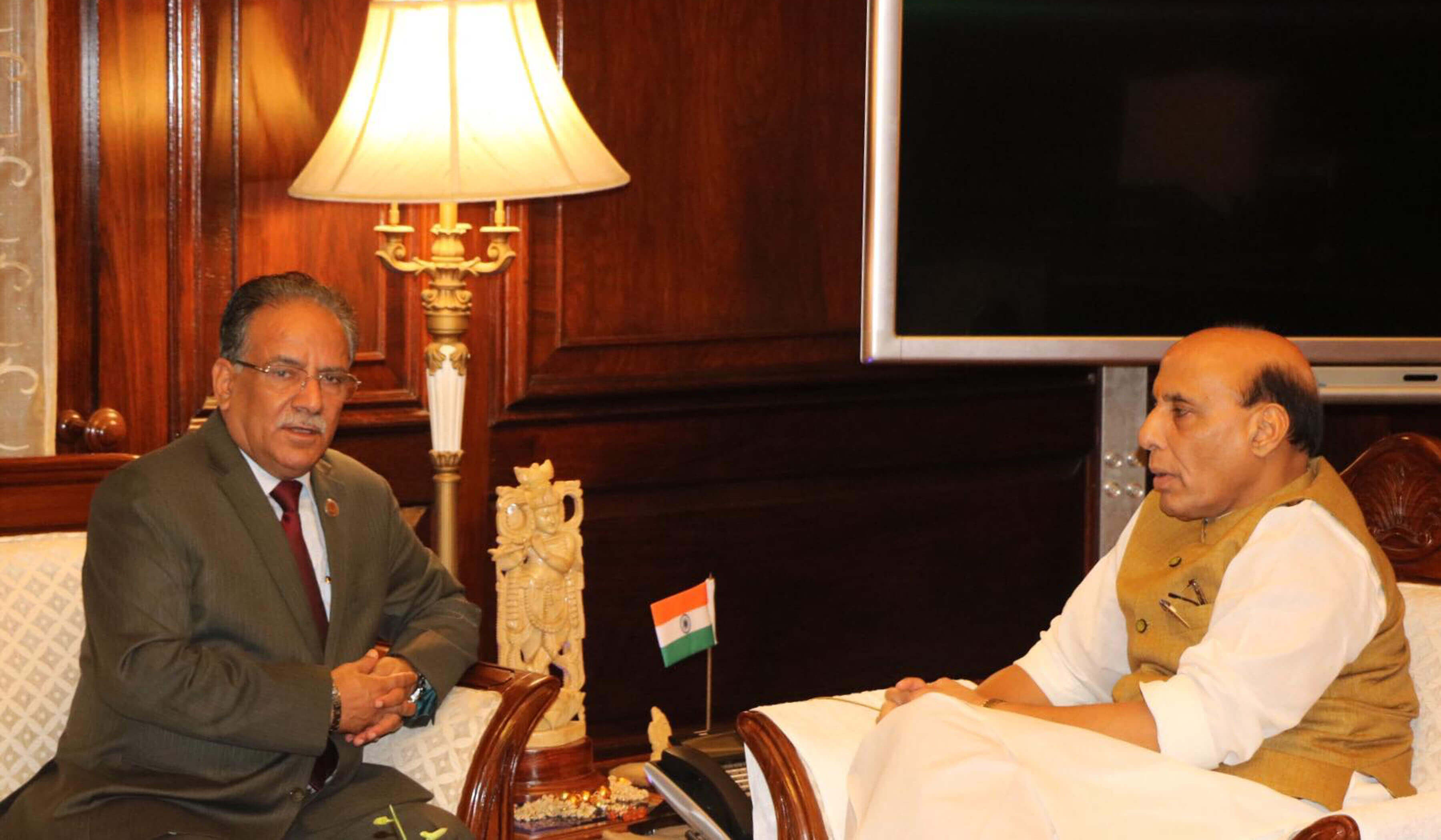 Prachanda meets with Indian home minister