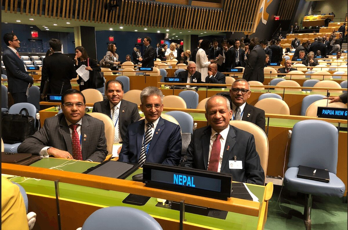 Nepal delegation at the United Nations General Assembly