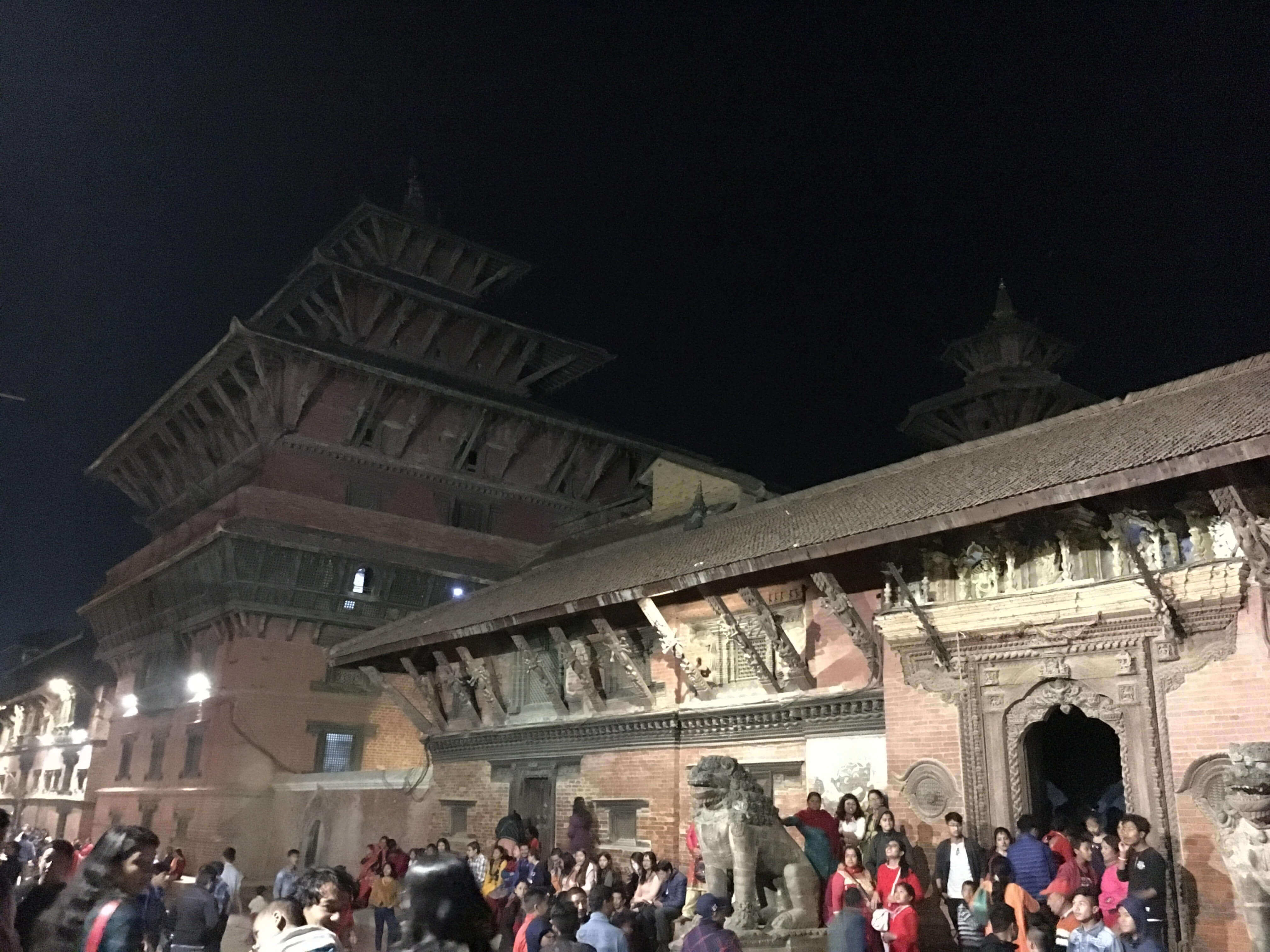 Thousands throng Mangal Bazar in Patan to observe the Asta Matrika masked dancer parade on Friday night, received by Lalitpur Mayor Chirbabu Maharjan after 23 years.