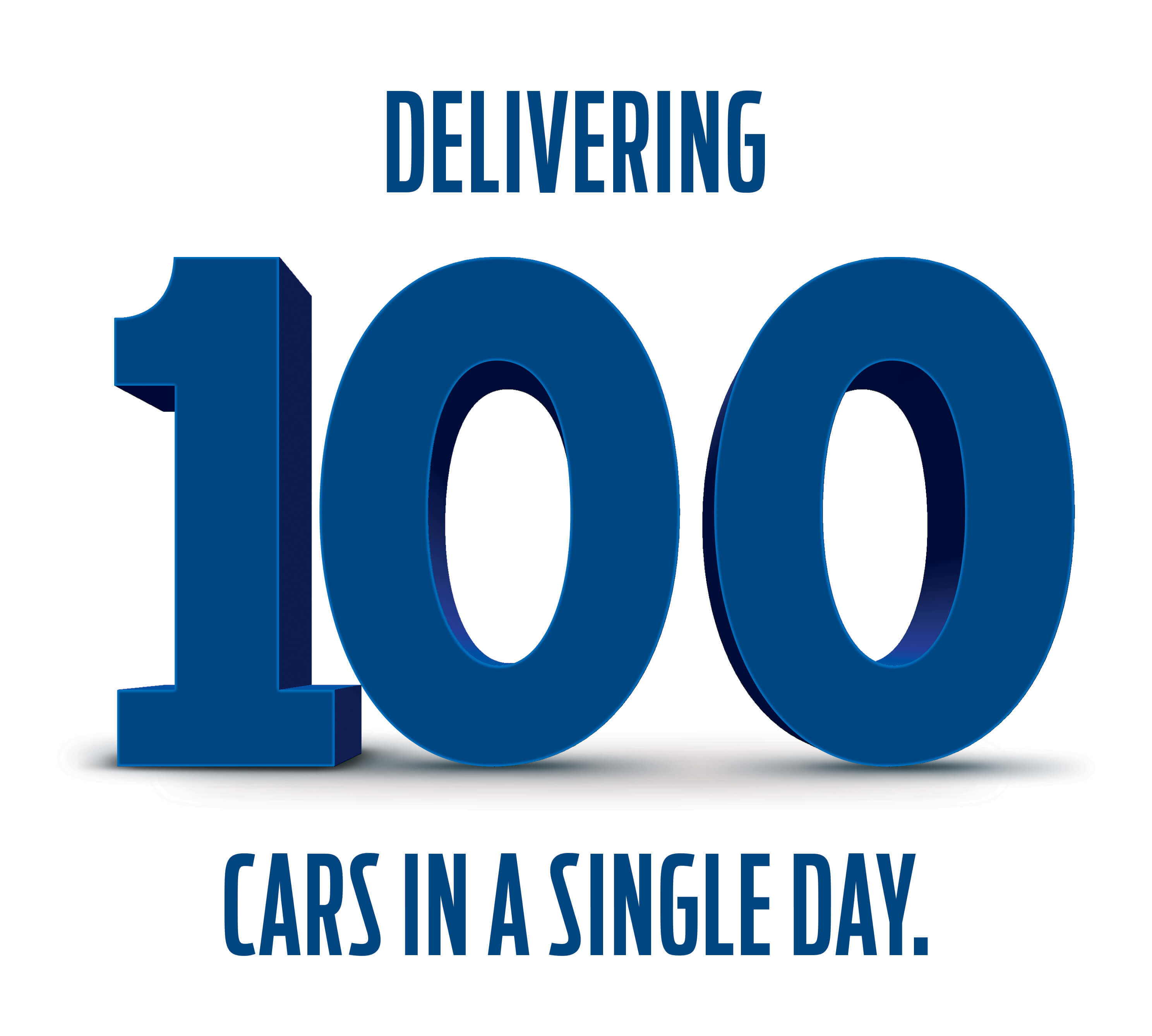 100 Ford cars a day