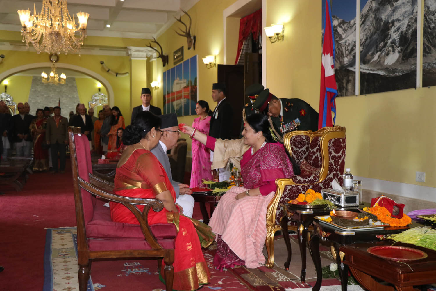 PM receives Tika from the President
