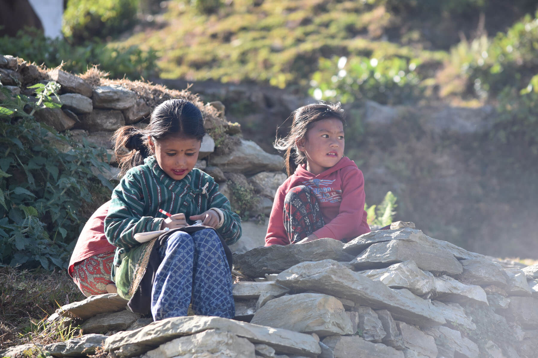 School children in Baglung