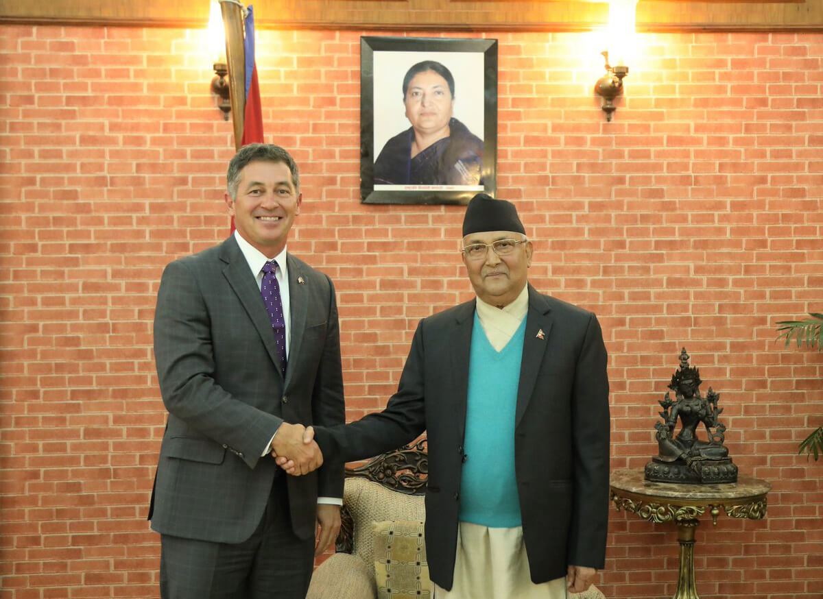 US Ambassador with PM KP Oli