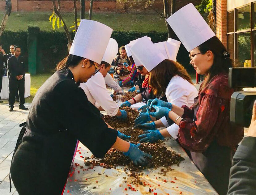 Hyatt Regency celebrates annual cake mixing ceremony