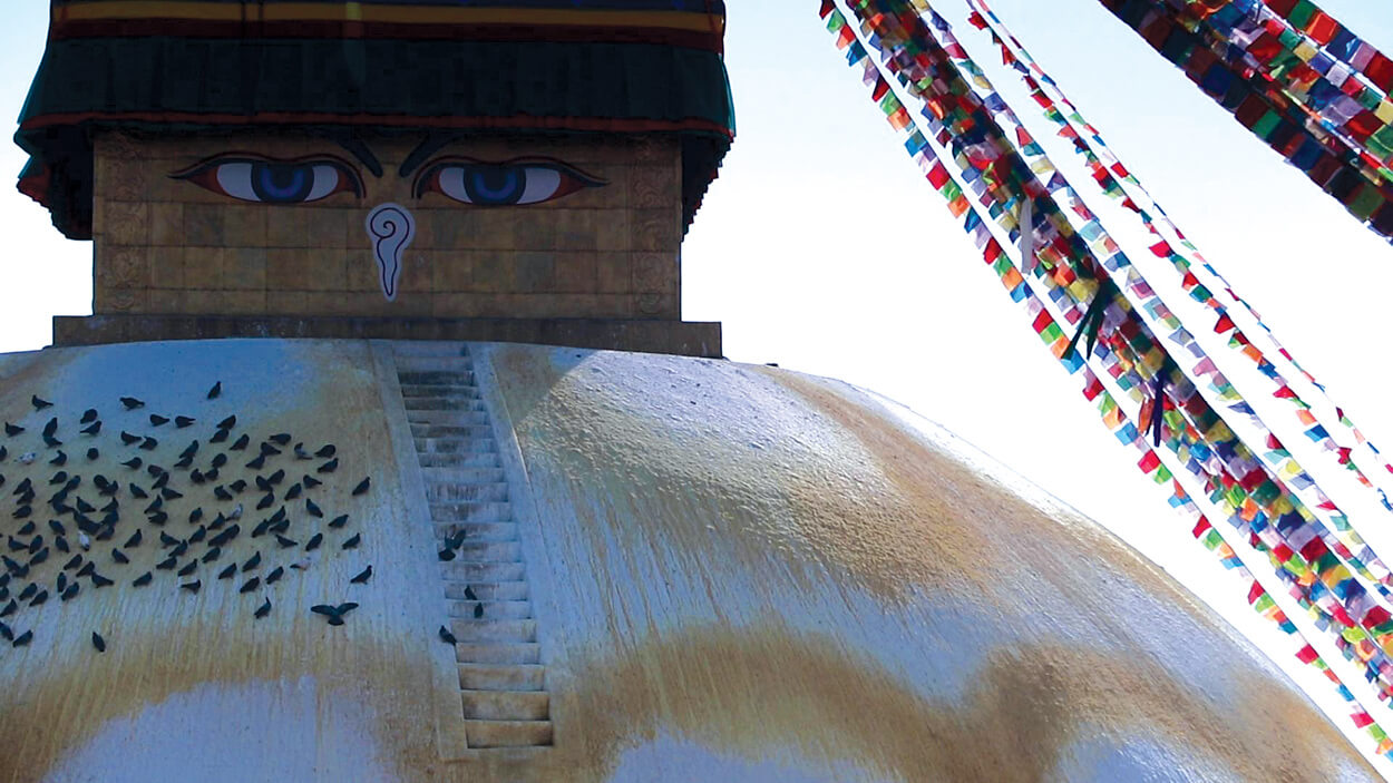 The stupa of a million dewdrops