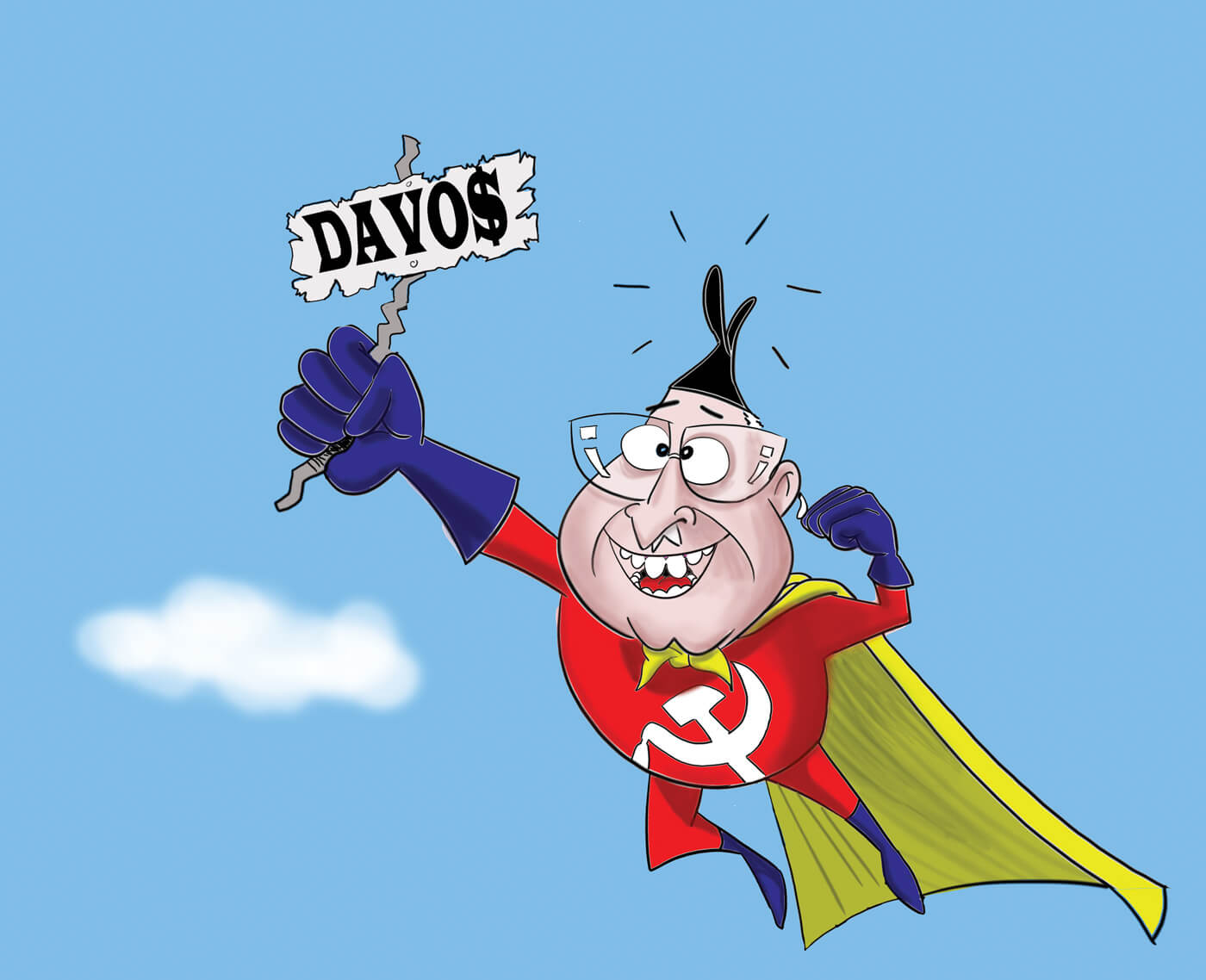 To Davos with hammer and sickle
