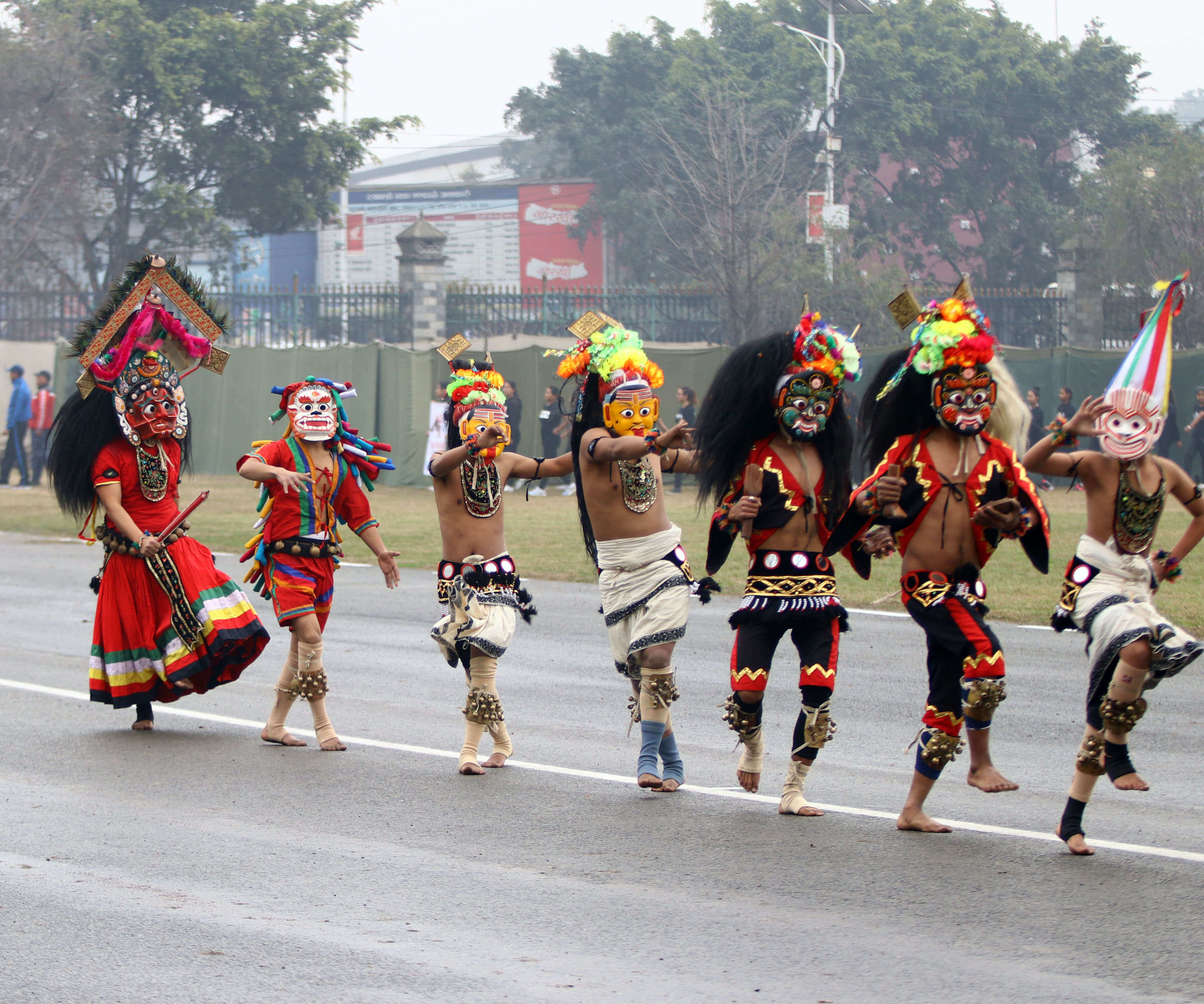 69th National Democracy Day celebrated in Tundikhel of Kathmandu with cultural processions.