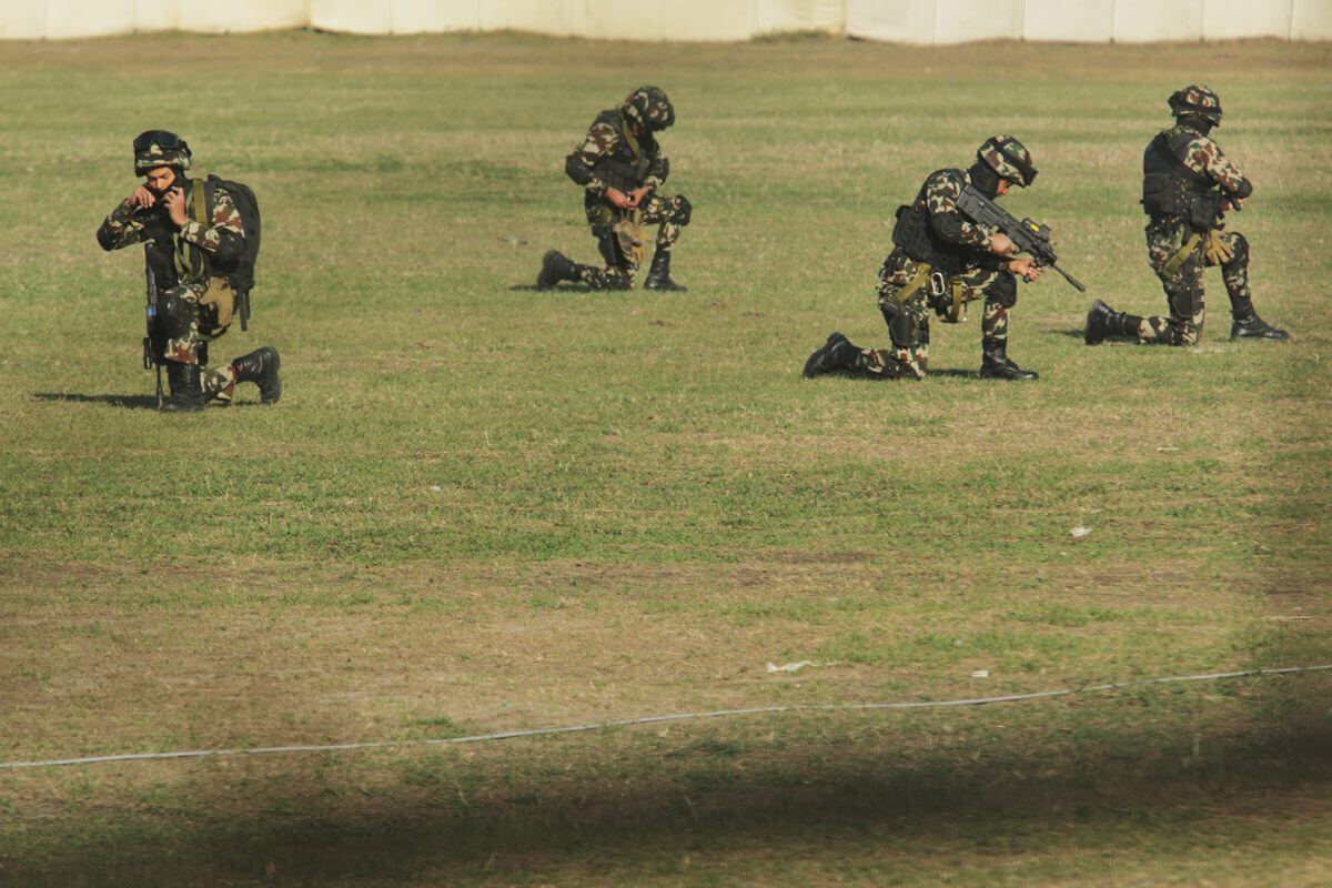 Nepal army rehearse for Army Day