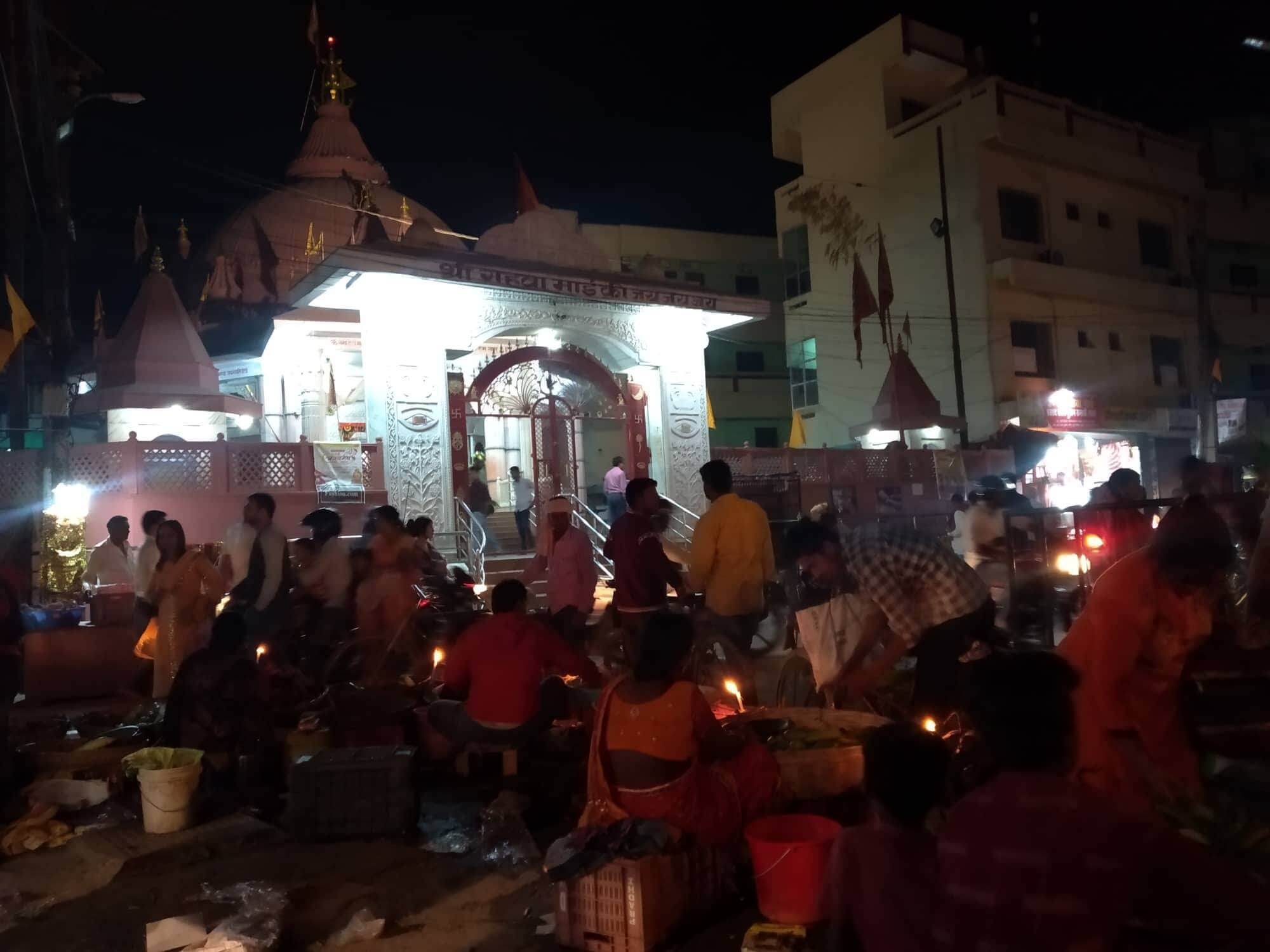 The market in front of Gahwa Mai temple in Birganj is alive With shoppers and devotees on the eve of Fagu Purnima on Wednesday.