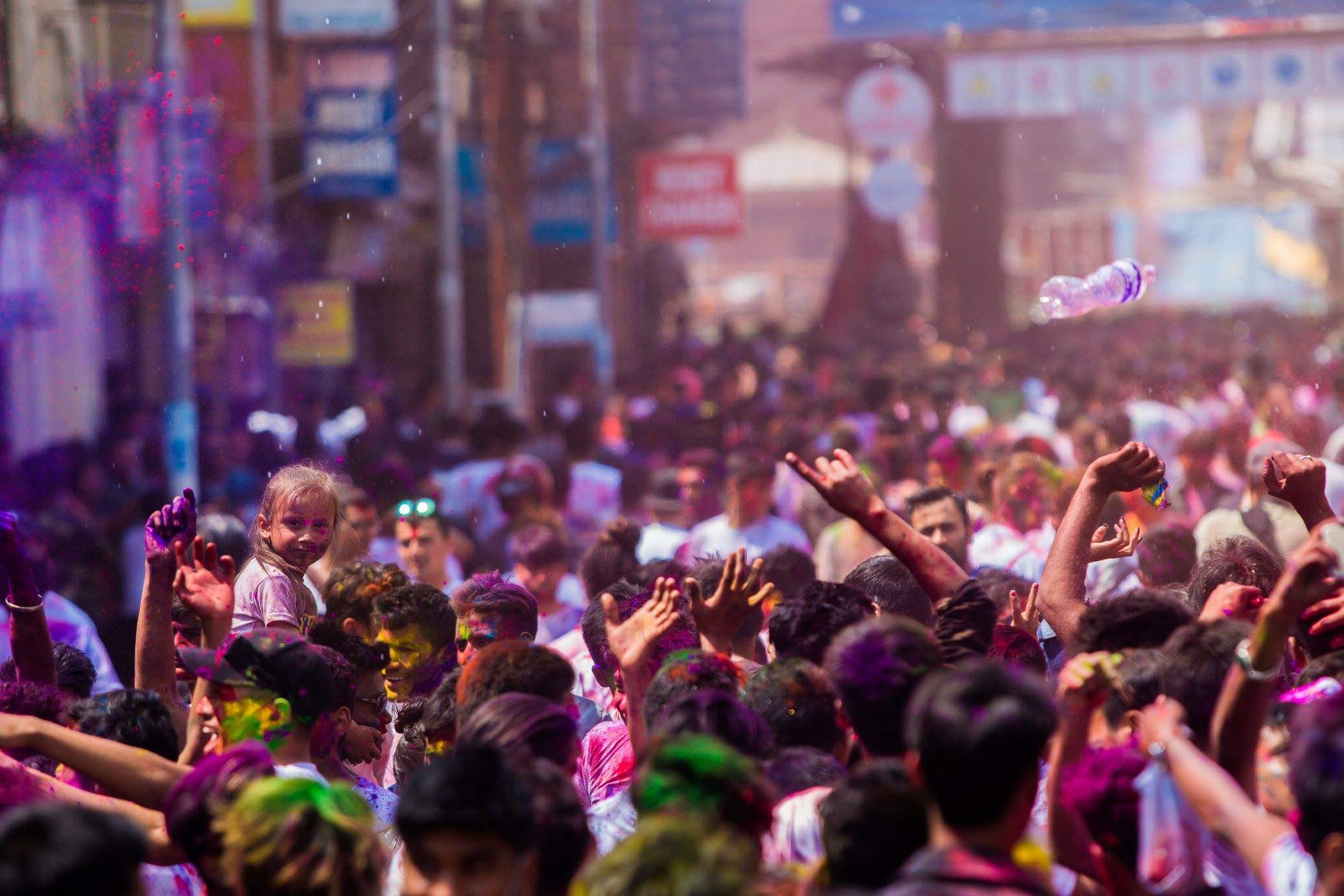 Fagu Full Moon was celebrated in Basantapur on Wednesday as the entire community came out into the streets in the festival of colour.