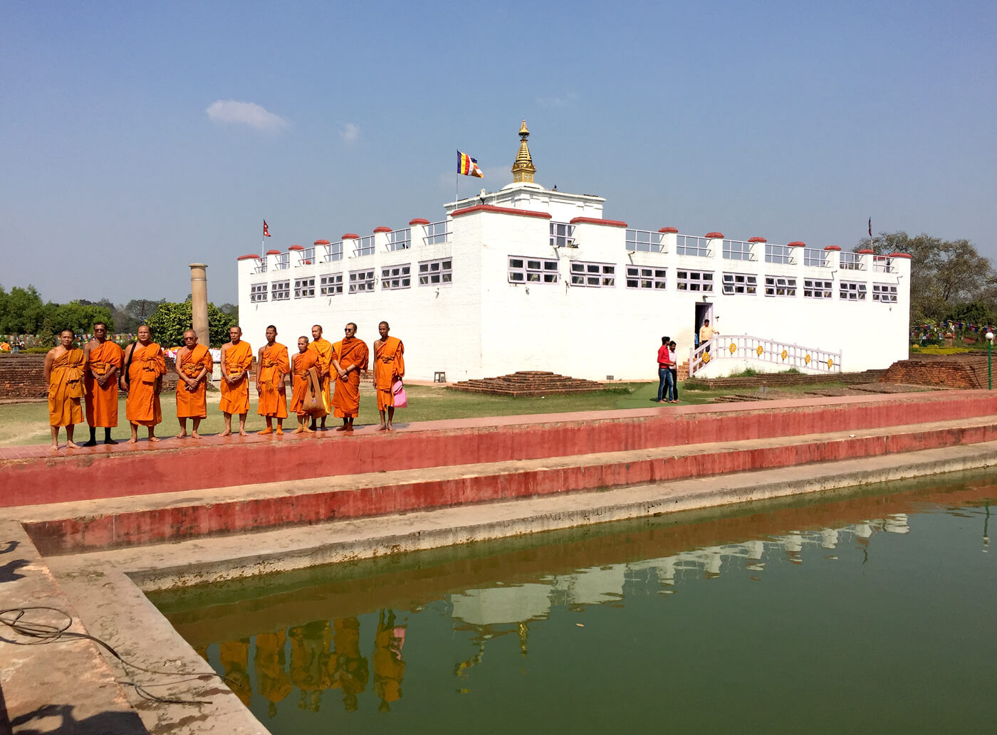 The Buddha was born in Lumbini