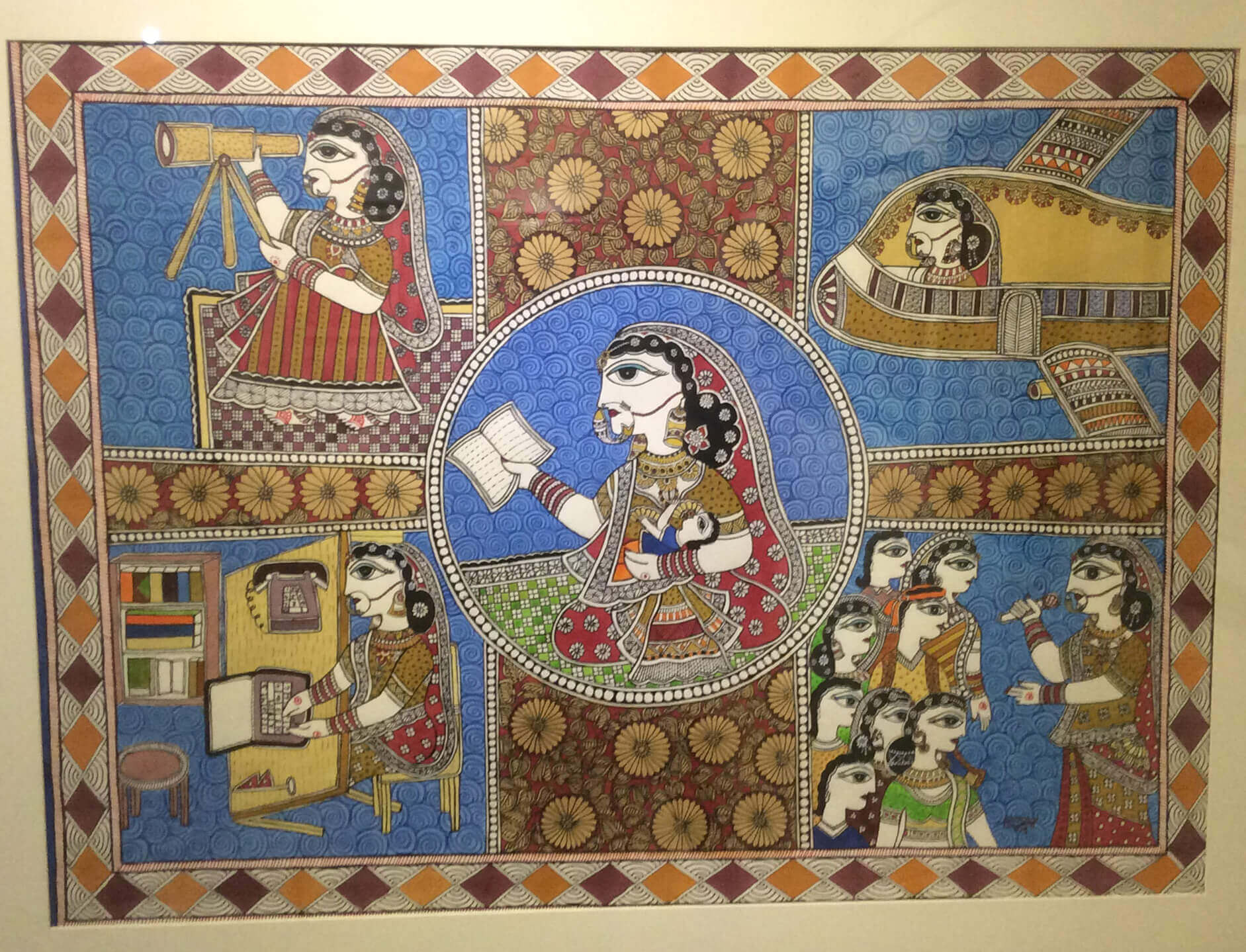Mithila art with a message