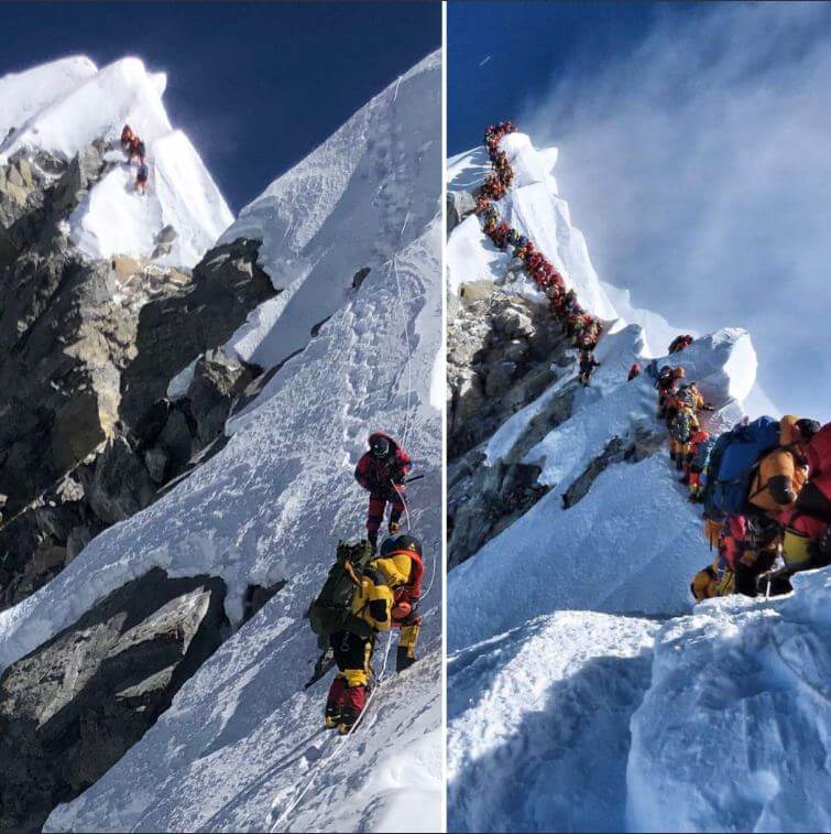 Most days, it's not so crowded on Mt Everest