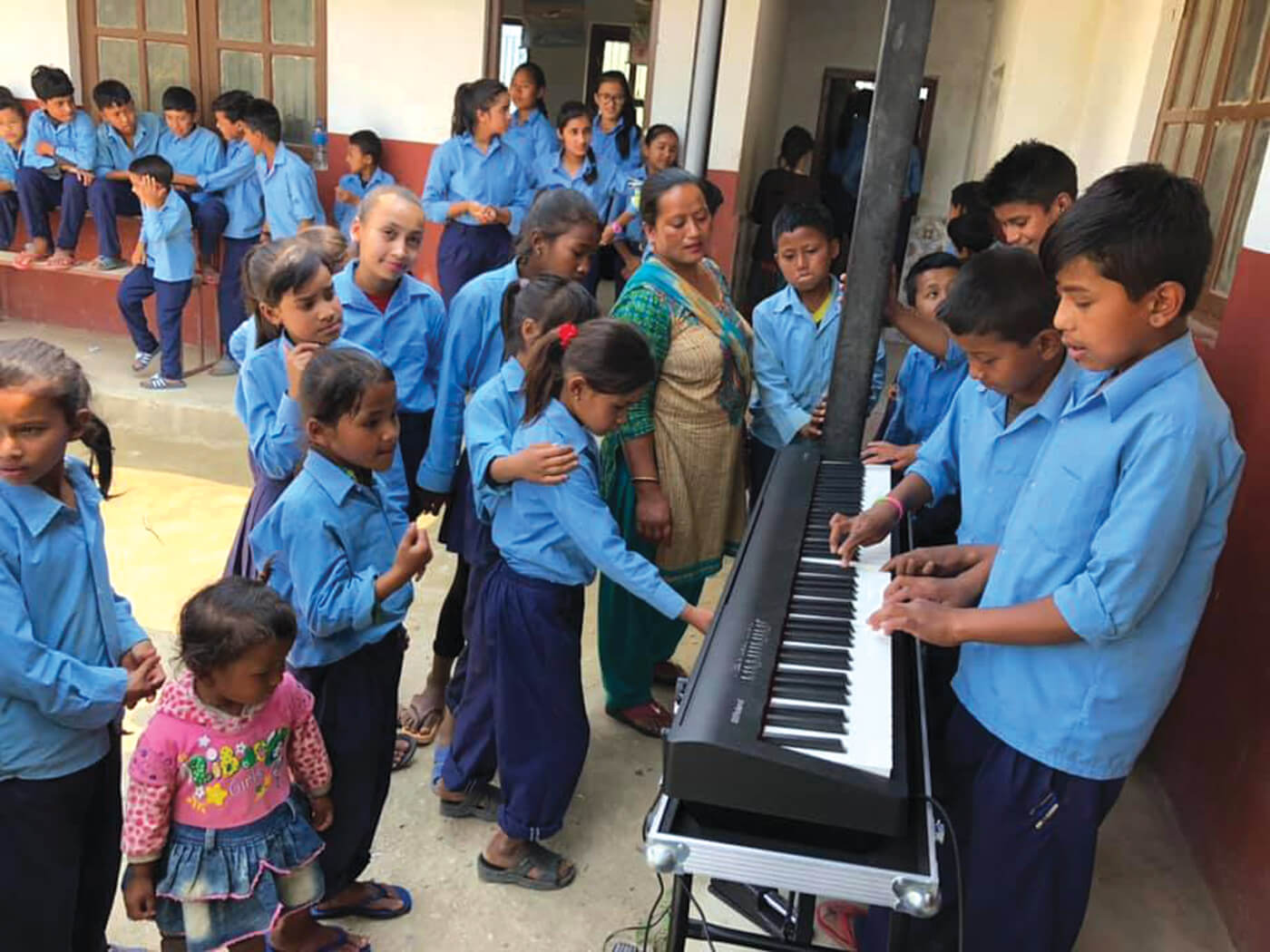 A gift of music to Nepali children
