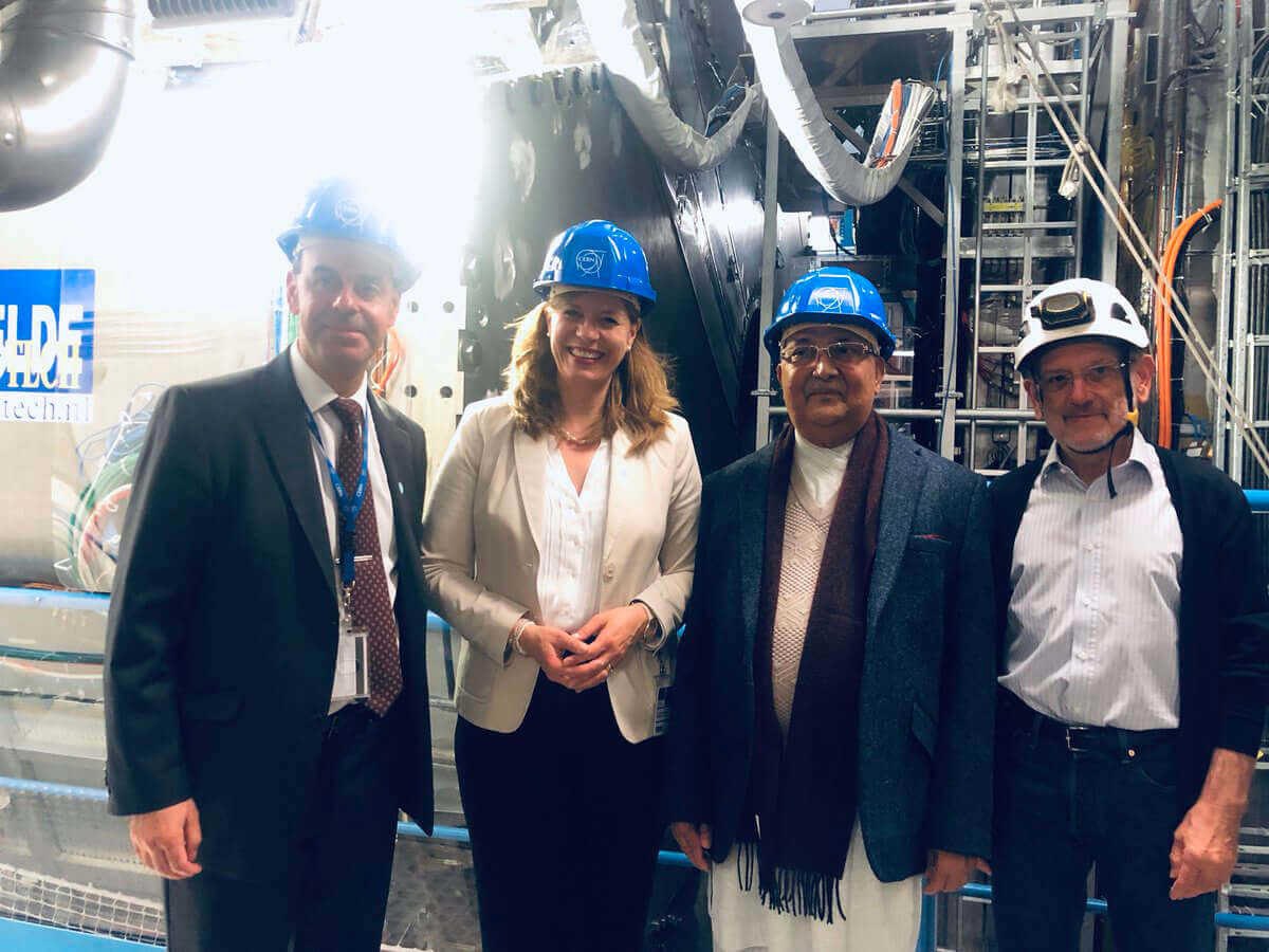 Prime Minister KP Oli visits CERN (Conseil Européen pour la Recherche Nucléaire), an European research organisation that operates largest particle physics laboratory in the world in Geneva, Switzerland.