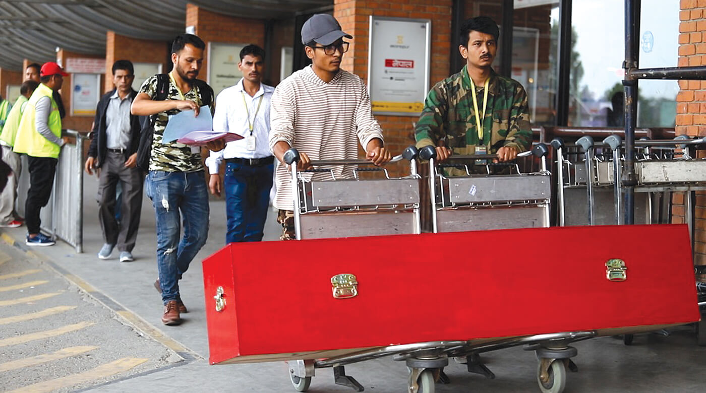 His last journey home to Nepal