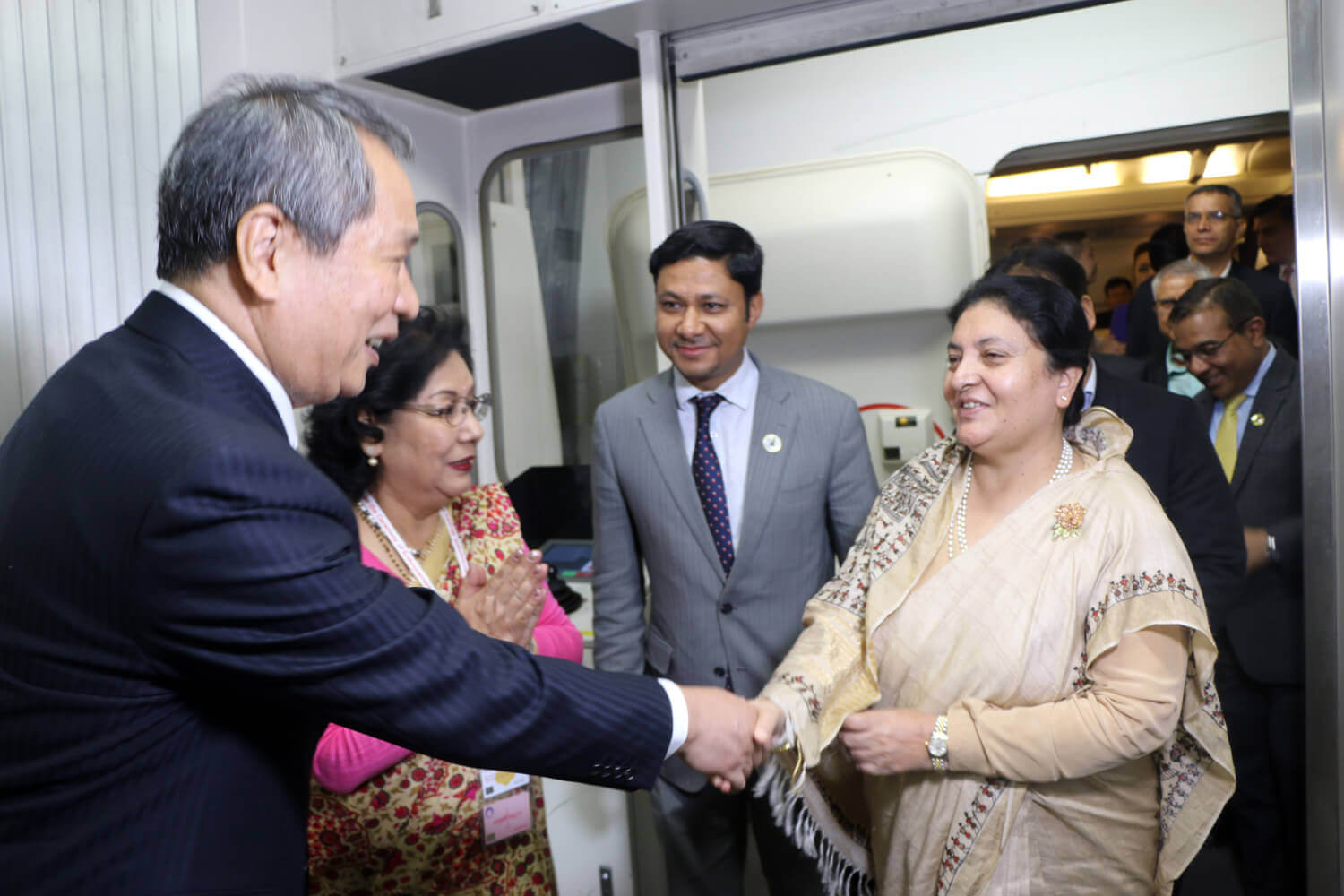 Bidya Bhandari welcomed in Japan