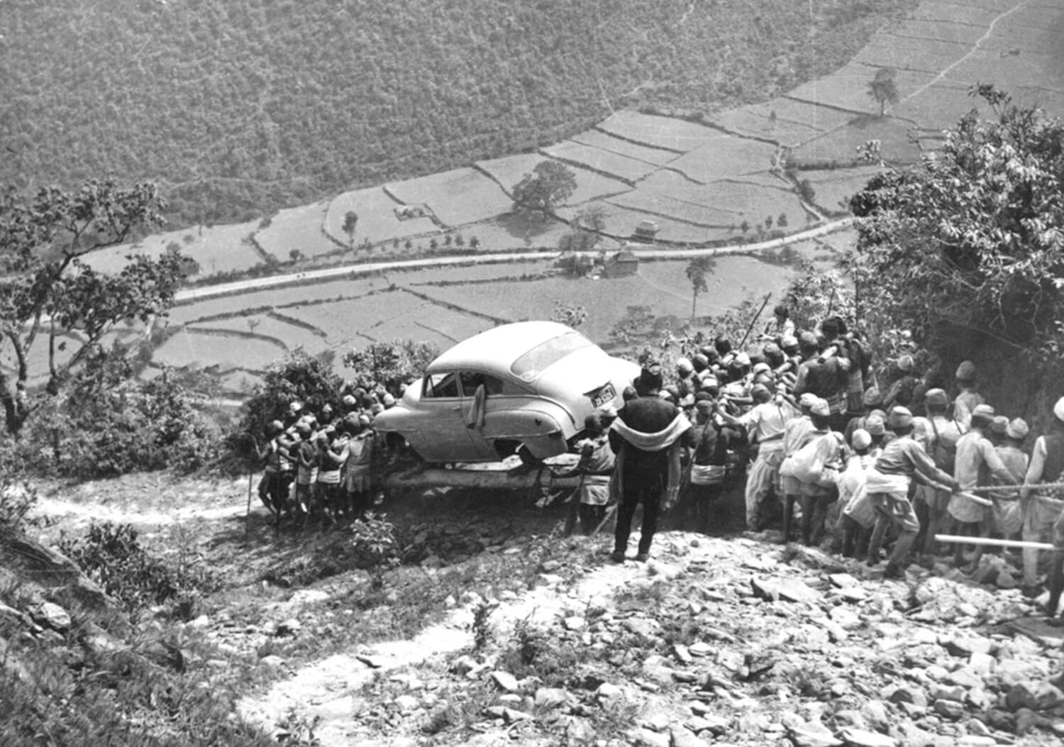 Cars before roads in Nepal