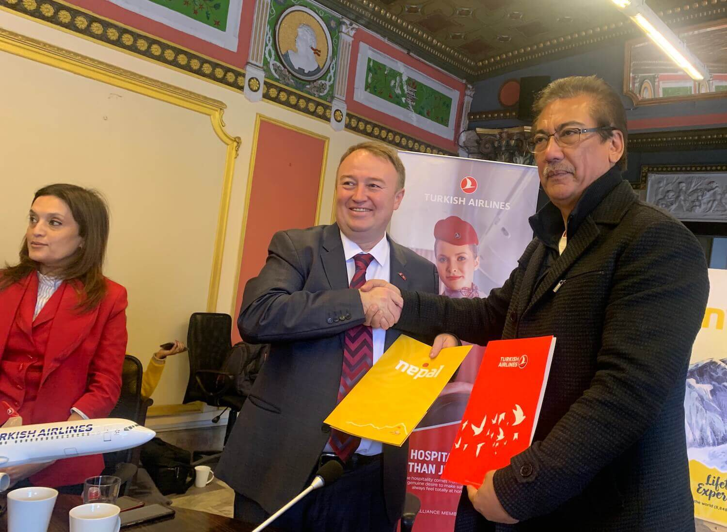 Turkish and Visit Nepal 2020 sign MoU