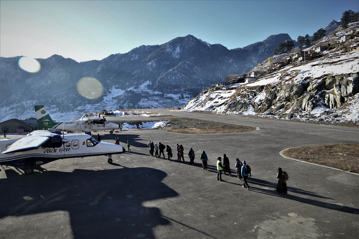 Second winter snow in Nepal grounds planes