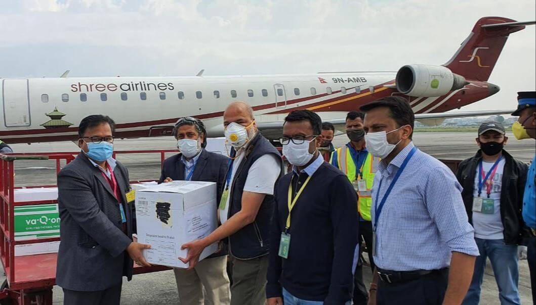 10,000 COVID-19 test kits to Nepal from Singapore