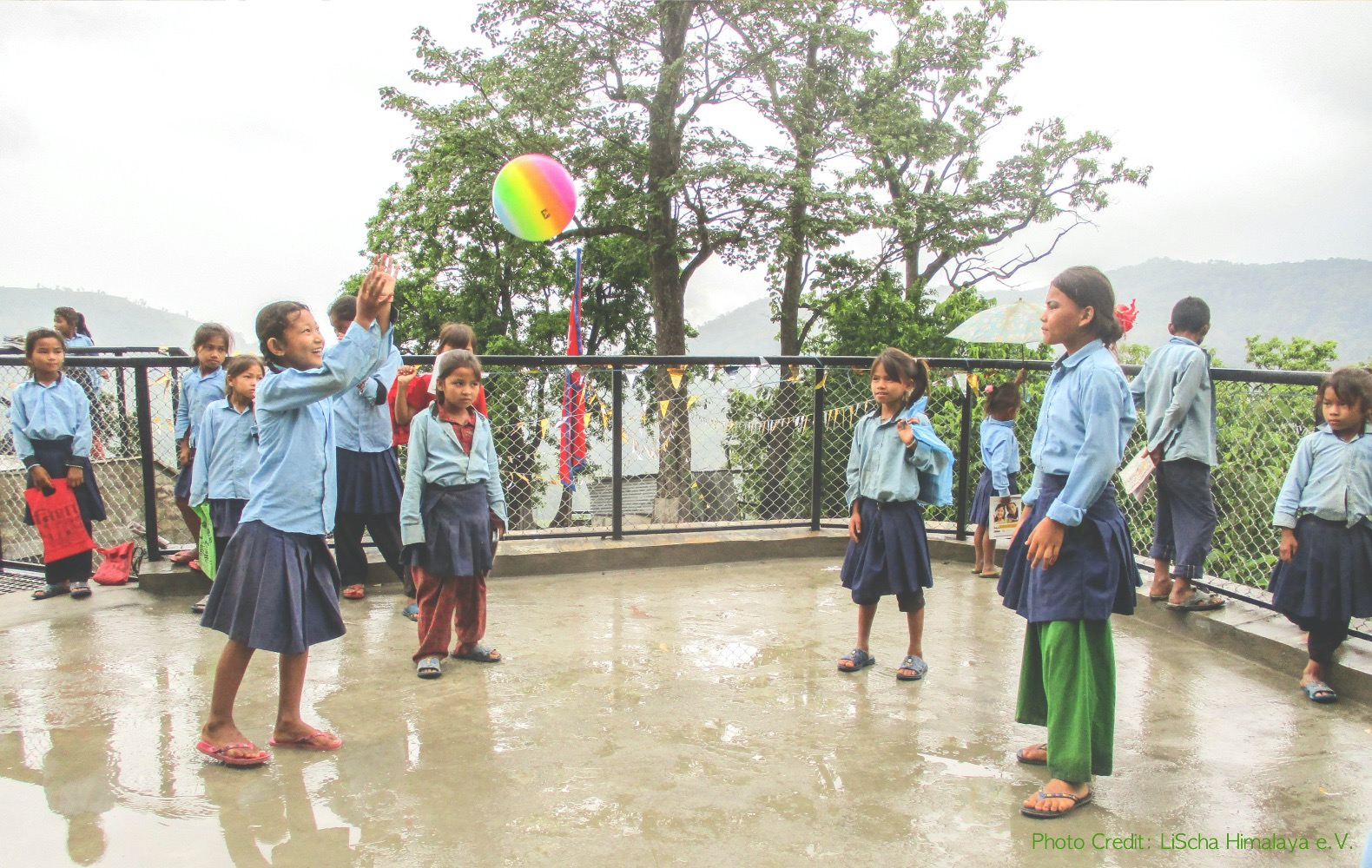 Nepal's school gets roof to play in