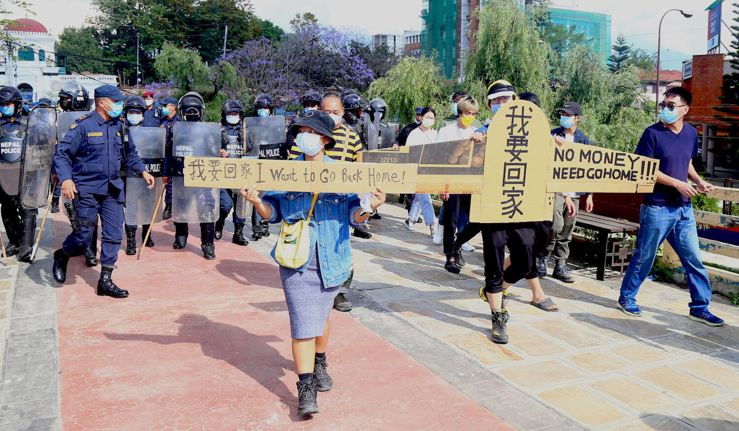 Protesting Chinese in Nepal told not to tarnish China's image