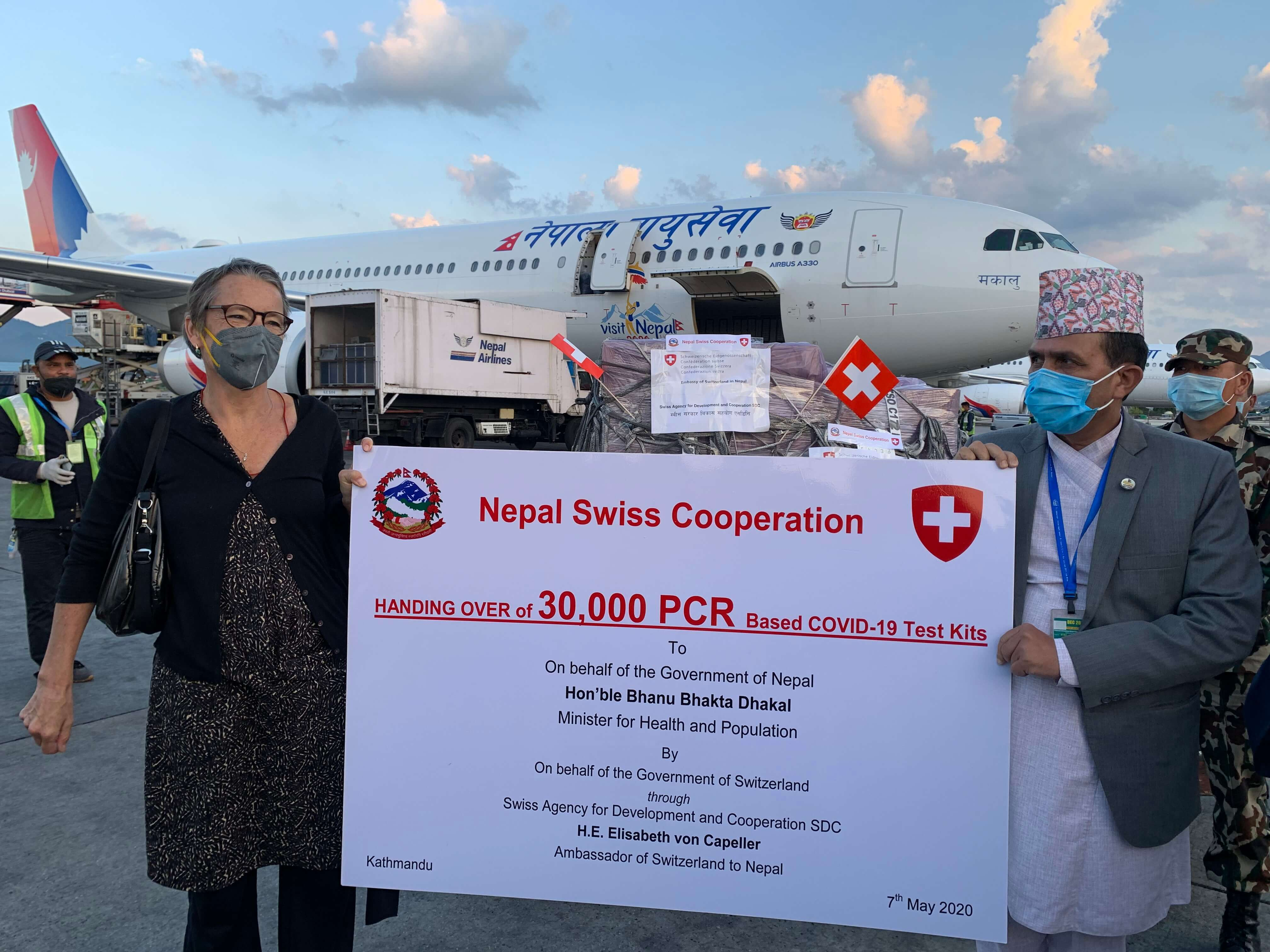 Swiss PCRs for Nepal COVID-19 testing