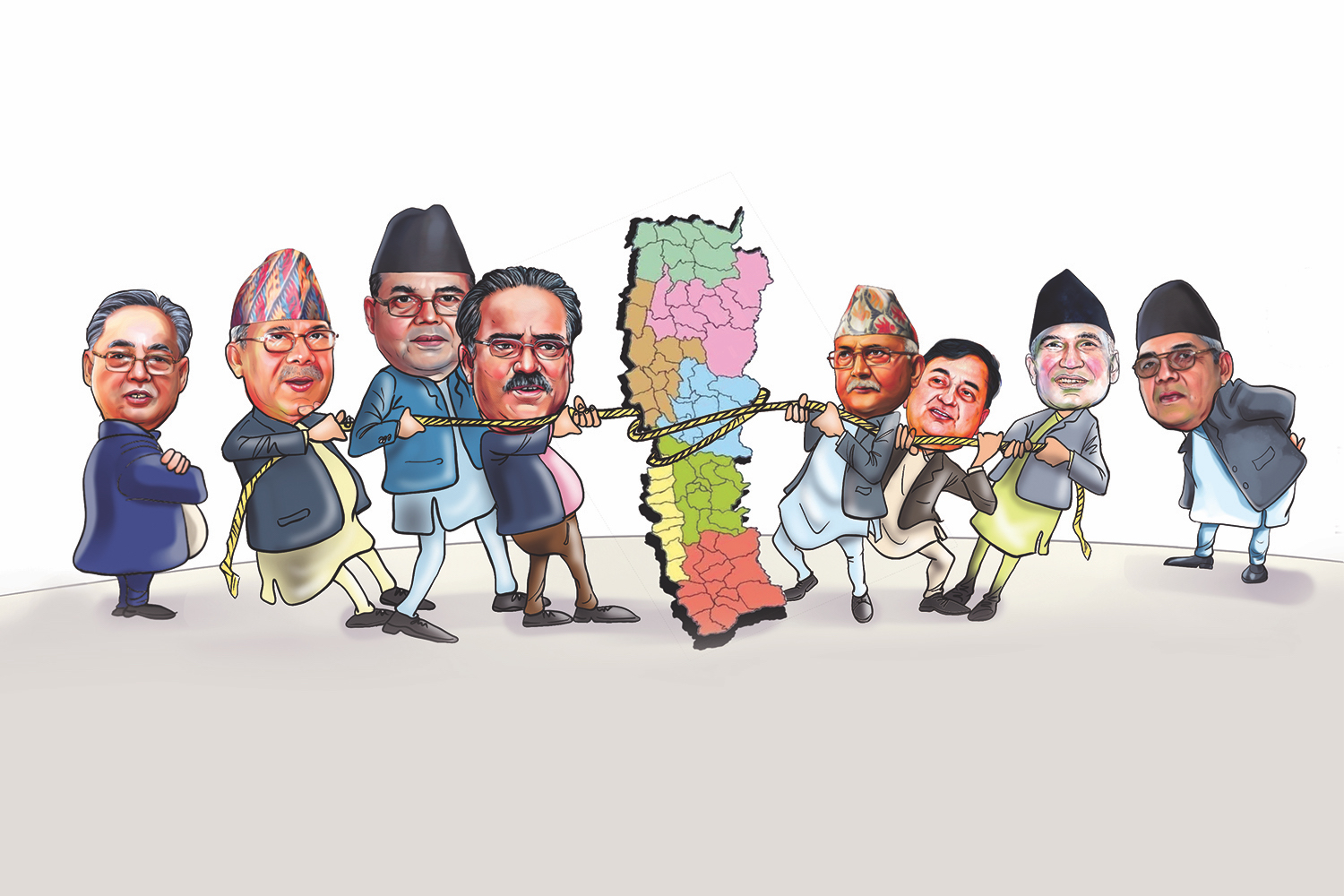 Tug of War Between Nepalese Politicians