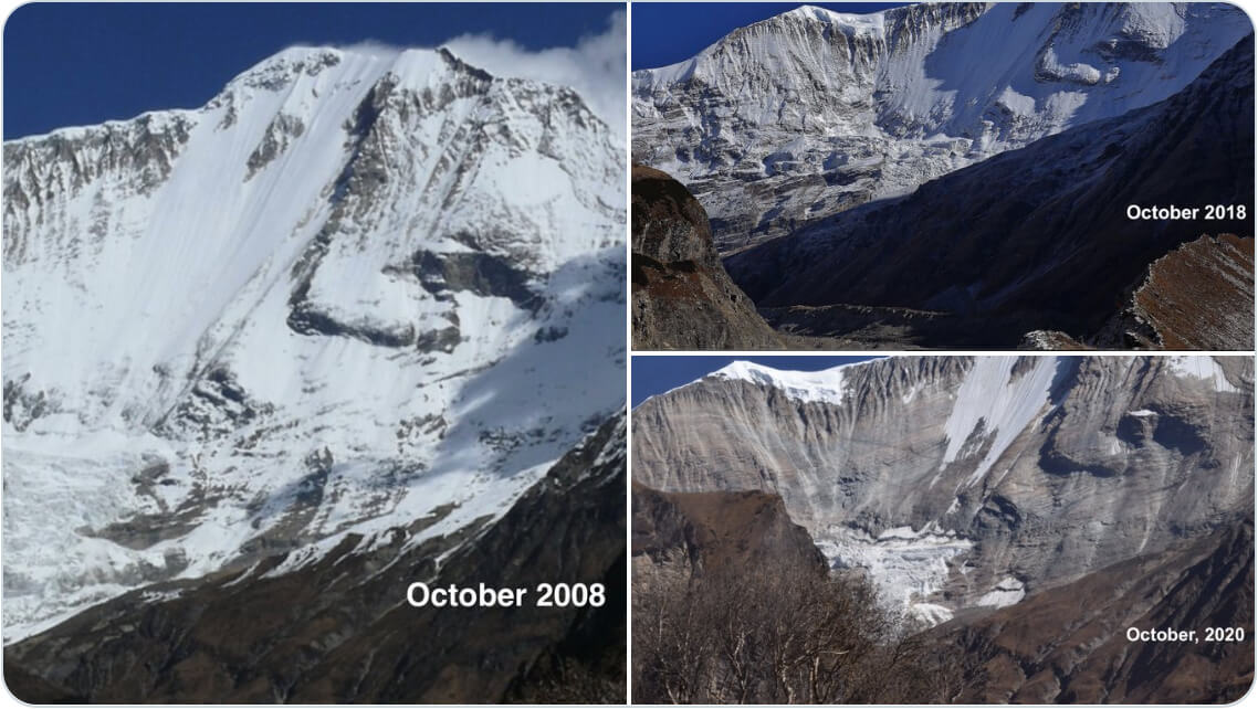 In just 2 years, a Nepal peak becomes snowless
