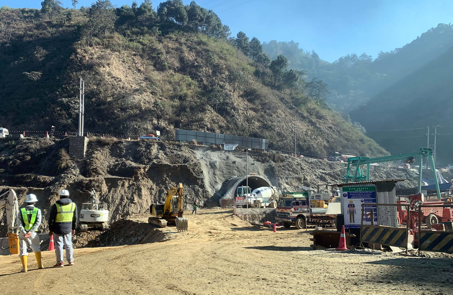 A 2.38km highway tunnel under construction that will connect Nagdhunga to Kathmandu, shortening travel time by 45 minutes.