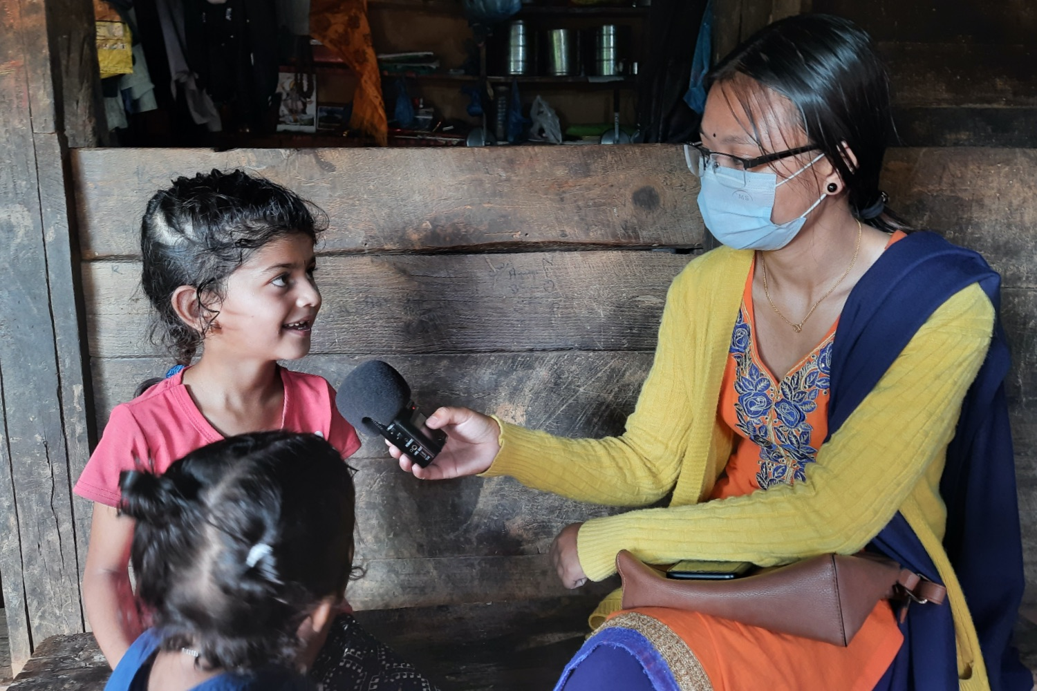 Tuning into the radio in Nepal