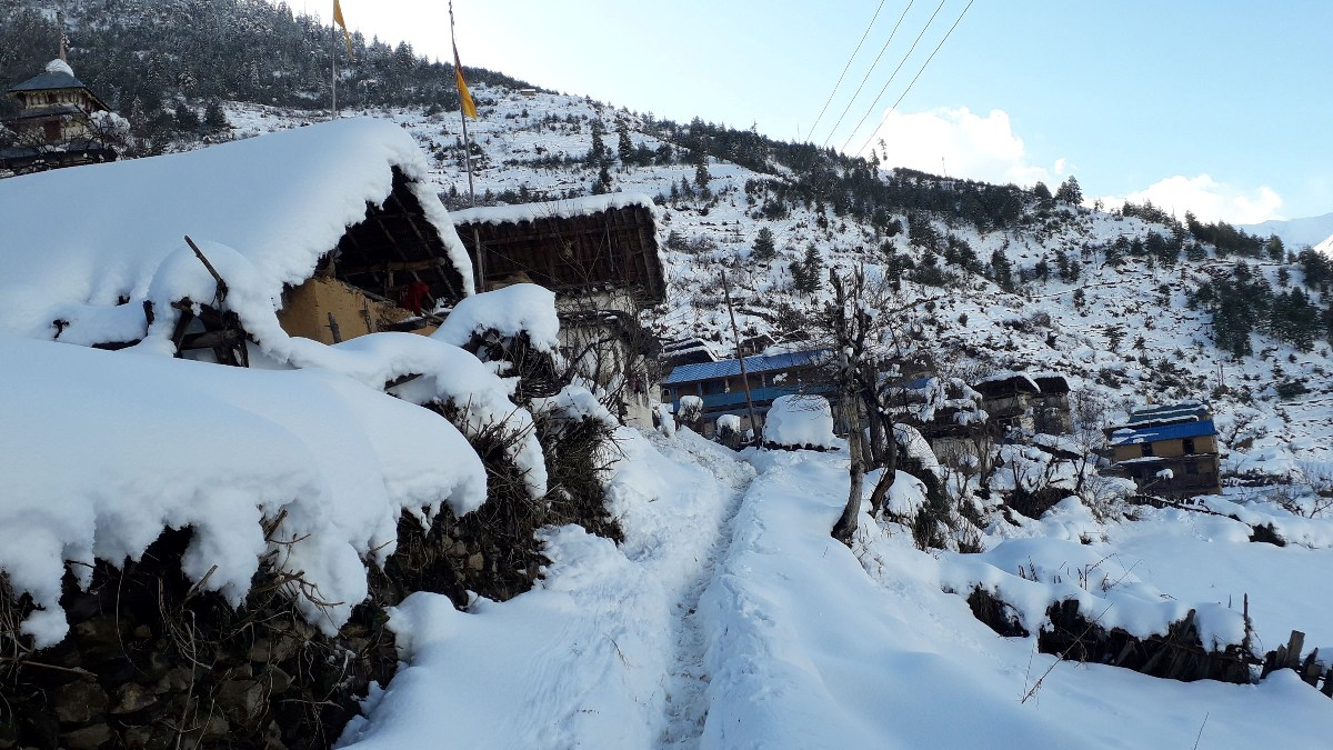 Snowfall in Jajarkot