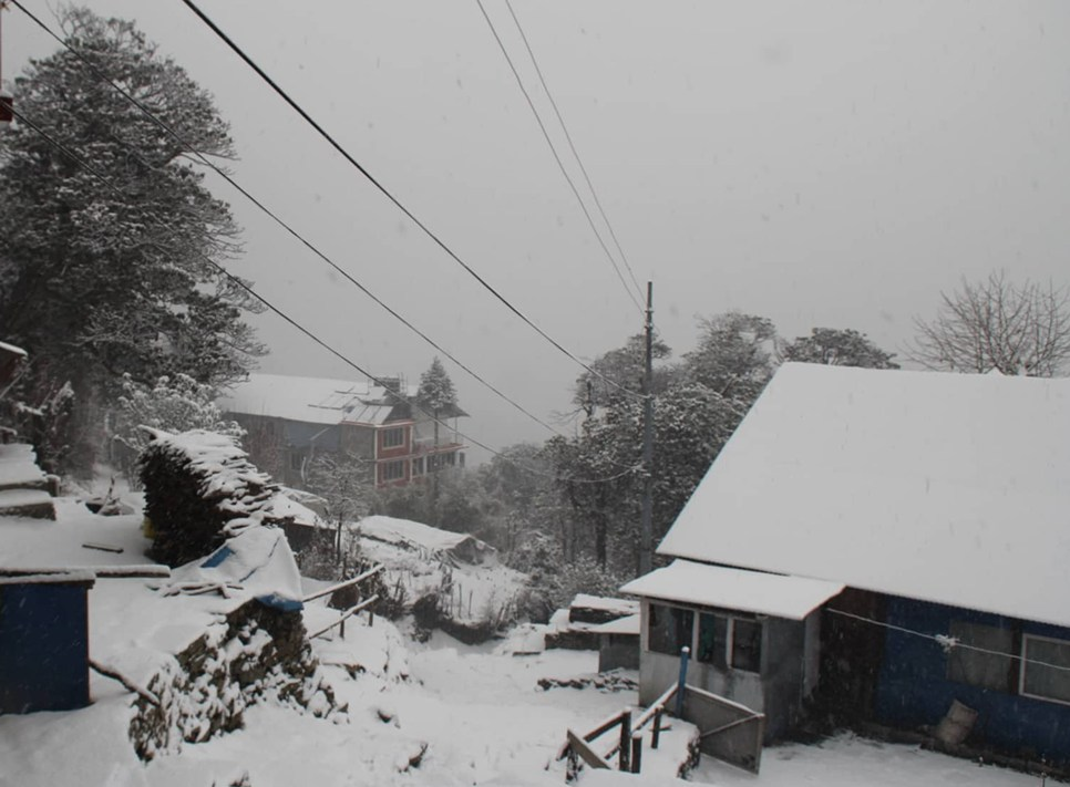 Snowfall at Myagdi