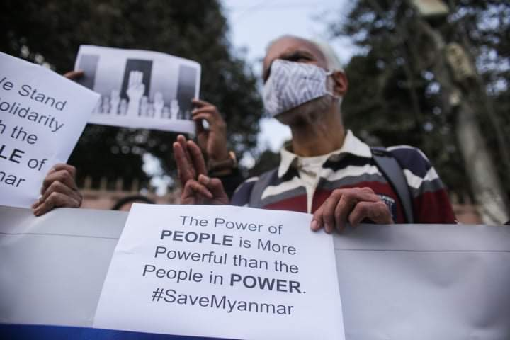 Nepalis show solidarity with Burma protesters