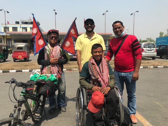 East to west Nepal in a wheelchair