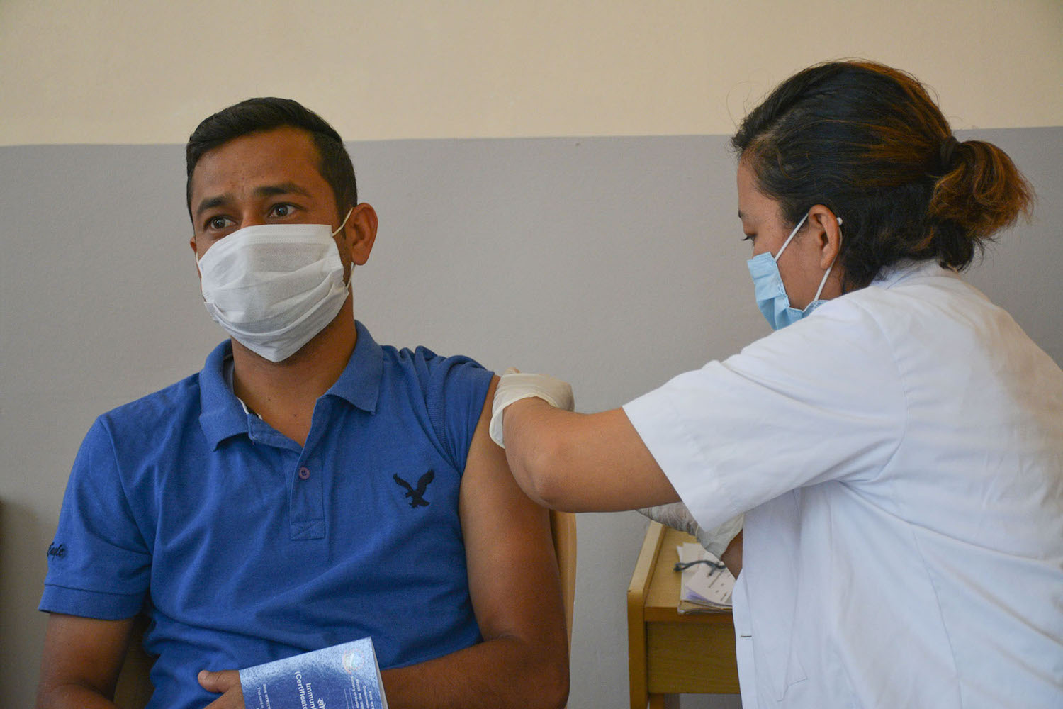 Masks and vaccines to stop Nepal's 2nd wave